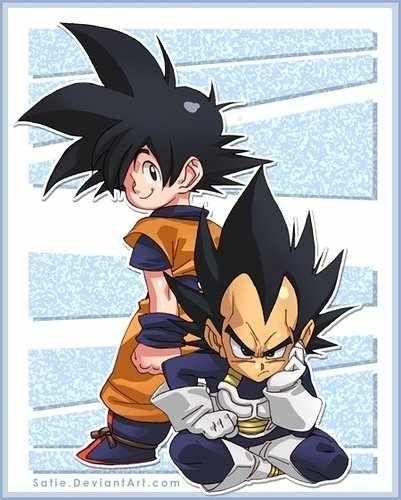 Happy Goku Grumpy Vegeta