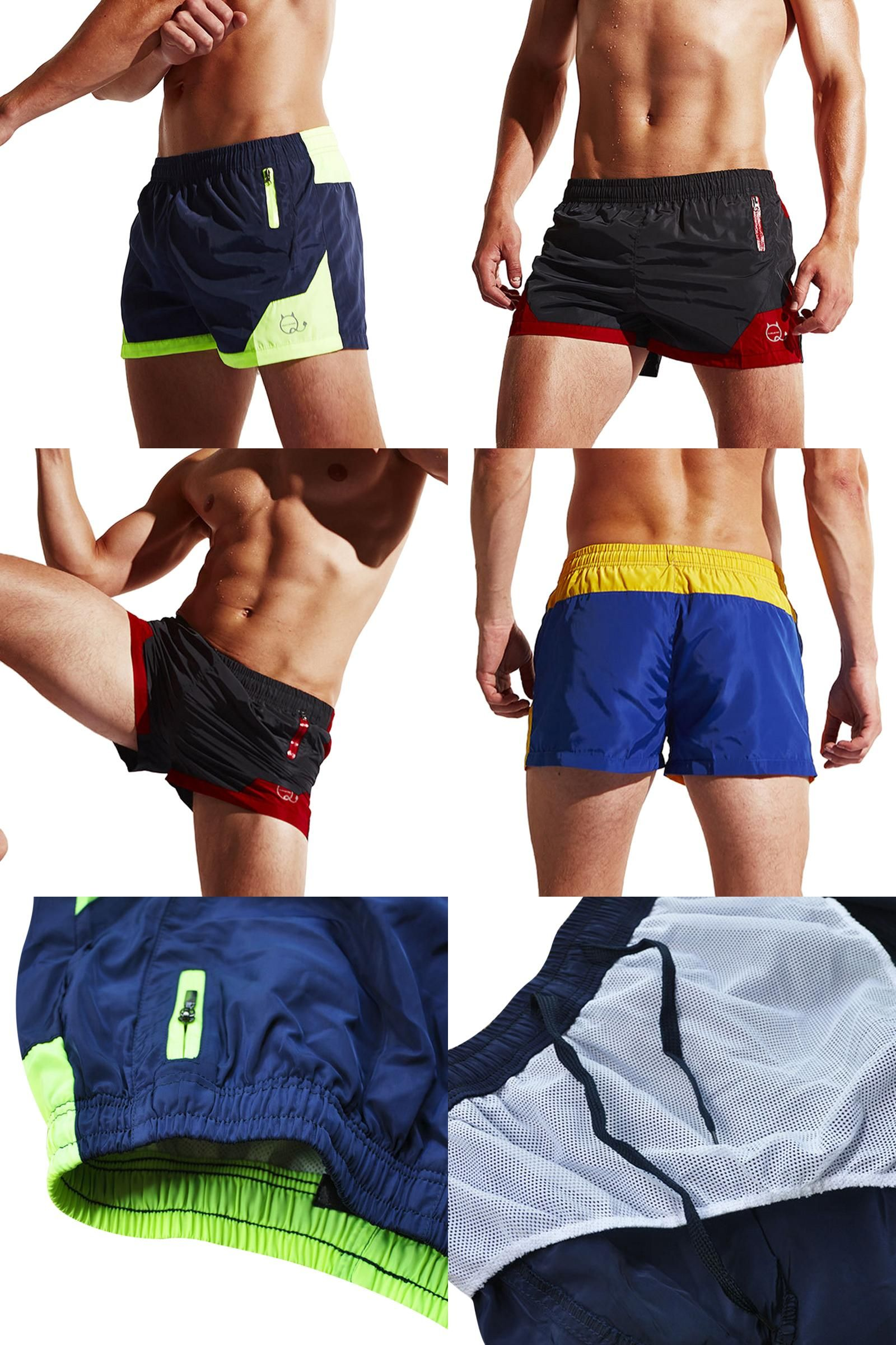 Men's Clothing Quick Dry Board Shorts Mens Beach Shorts Patchwork Color Summer Swimsuit Men Bathing Wear Sweatpants Board Short Plus Size In Short Supply
