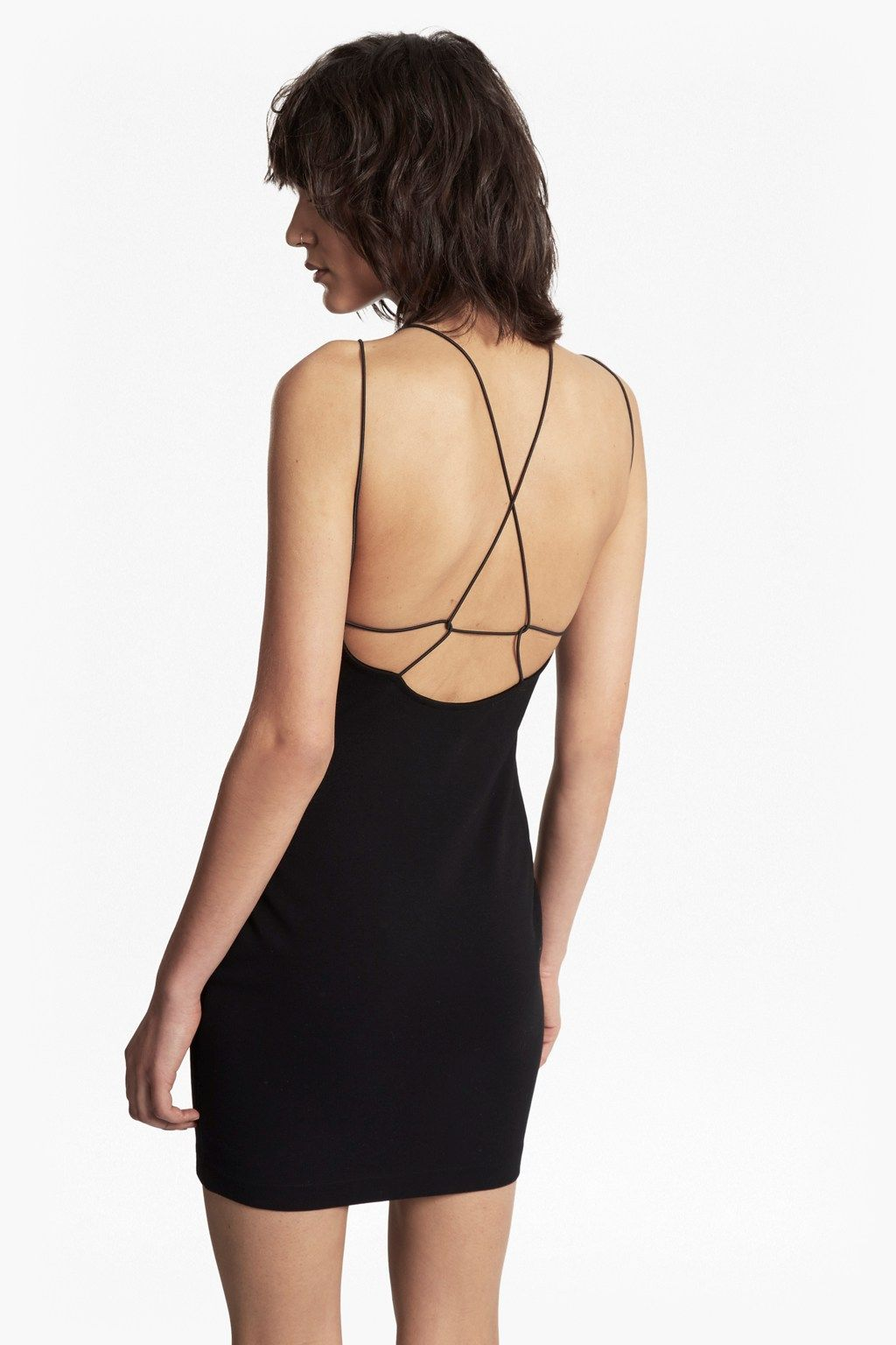 Kali jersey strappy back mini dress dresses french connection