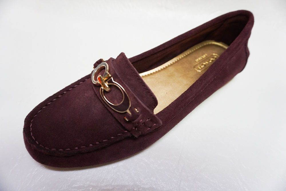 108fbfbbf051 Coach womens A1167 FORTUNATA Moc Toe garnet suede loafer shoes 6 NEW in box   coach  Loafers  Casual