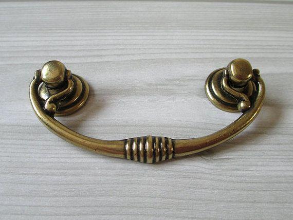 Gold Drop Ring Drawer Knob Pulls Dresser Knobs Pull Handles  Kitchen Cabinet Pulls Handle Cupboard Vintage Gold Furniture Door Hardware