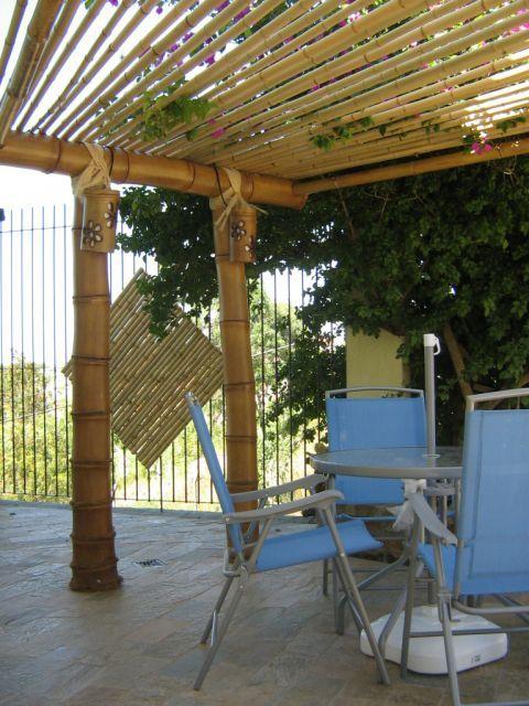 Bamboo Pergola Pergolados With Images Pergola Canopy
