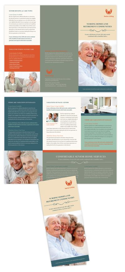 Senior Housing Tri Fold Brochure Template TriFold Brochure - Hp tri fold brochure template