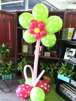 Cmo hacer Flores con Globos Decoracin con Globos Globos