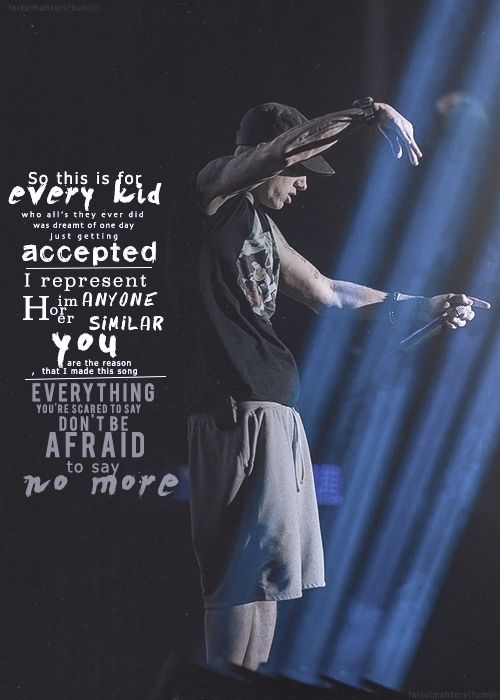 Can I Just Say This Is My Favorite Quote From Any Song Ever Cause It Is Em Eminem Quotes Eminem Lyrics Eminem Rap