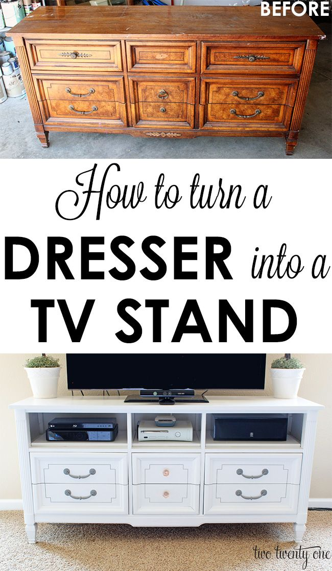 How To Turn A Dresser Into A Tv Stand Upcycle Diy Home