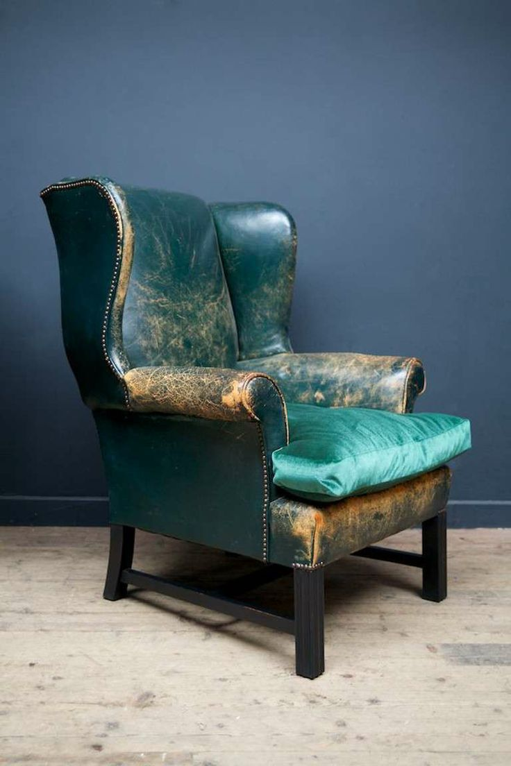 elegant leather wingback chair for home furniture ideas: antique
