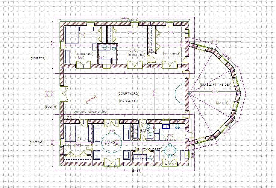 Straw Bale Courtyard House Plans Mediterranean Floor Plans Courtyard House