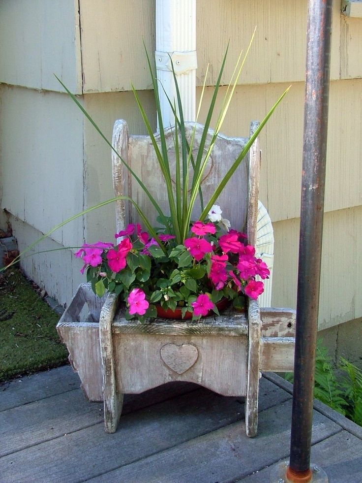 potty planters | Potty Chair planter | Recycled containers 4 plants#2