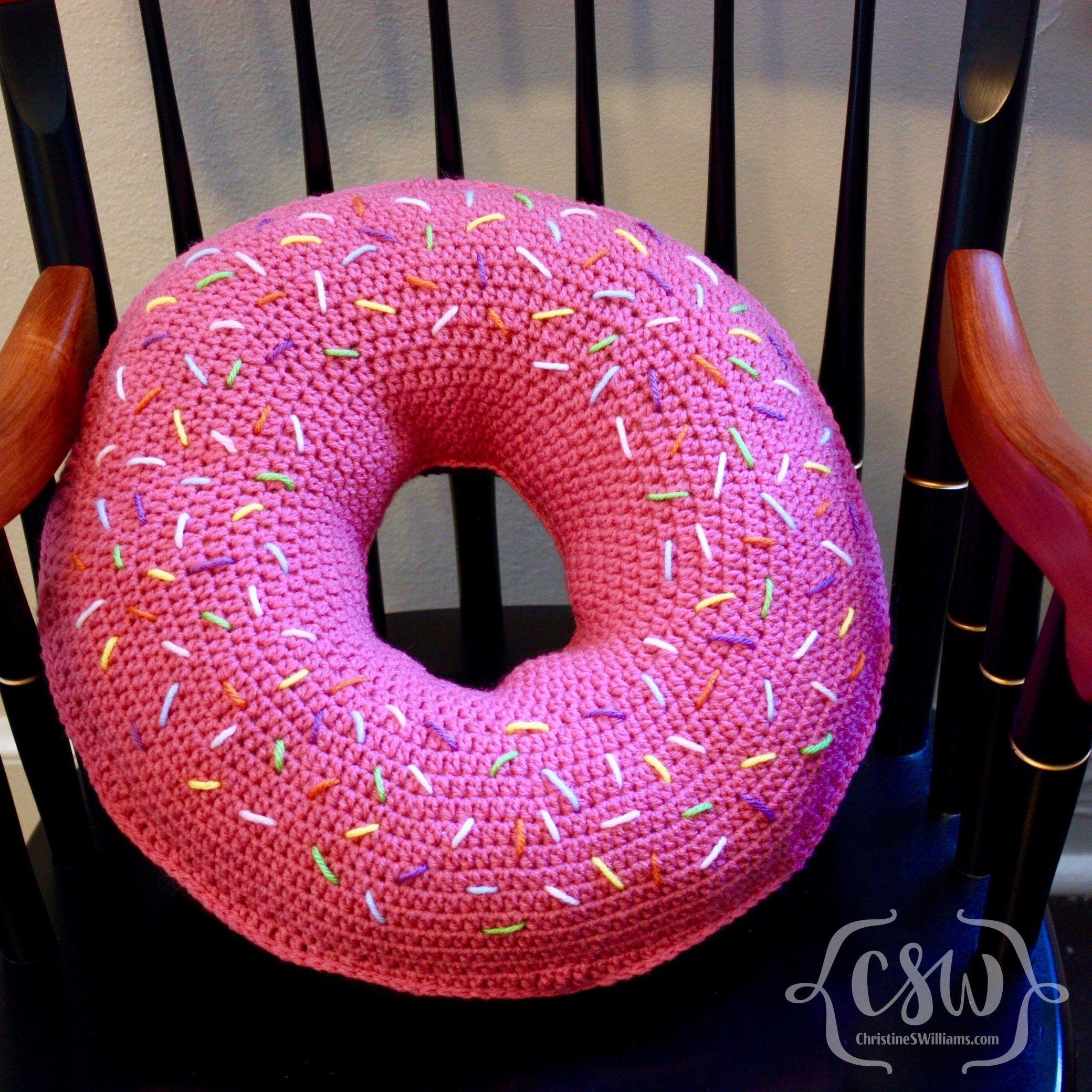 Donut Pillow Donut Cushion Pillows Crochet Cushions