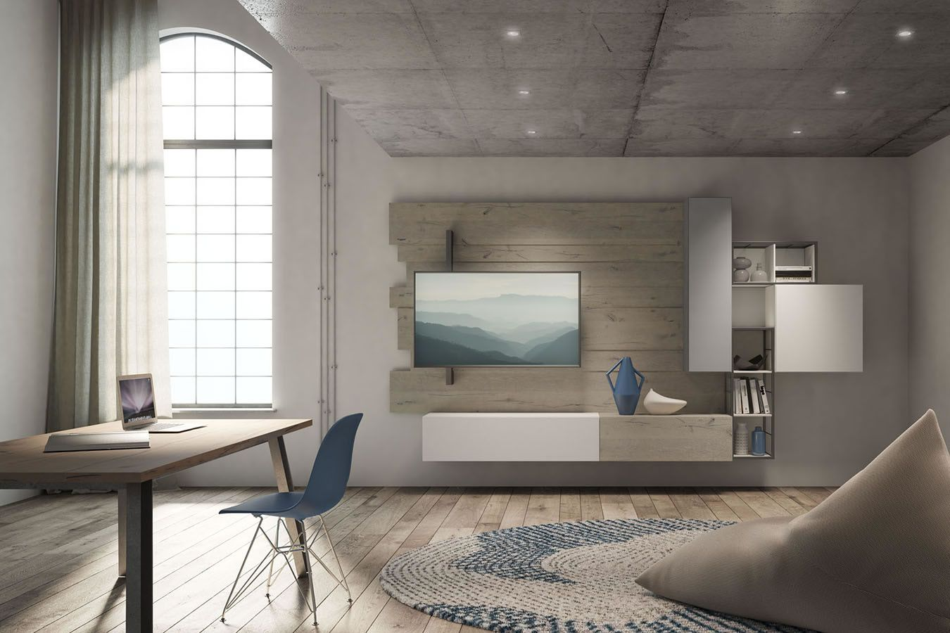 Italian wall units living room - Italian Modern Wall Units Furniture Italian Furniture With A Vintage And Retro Style Through Technological