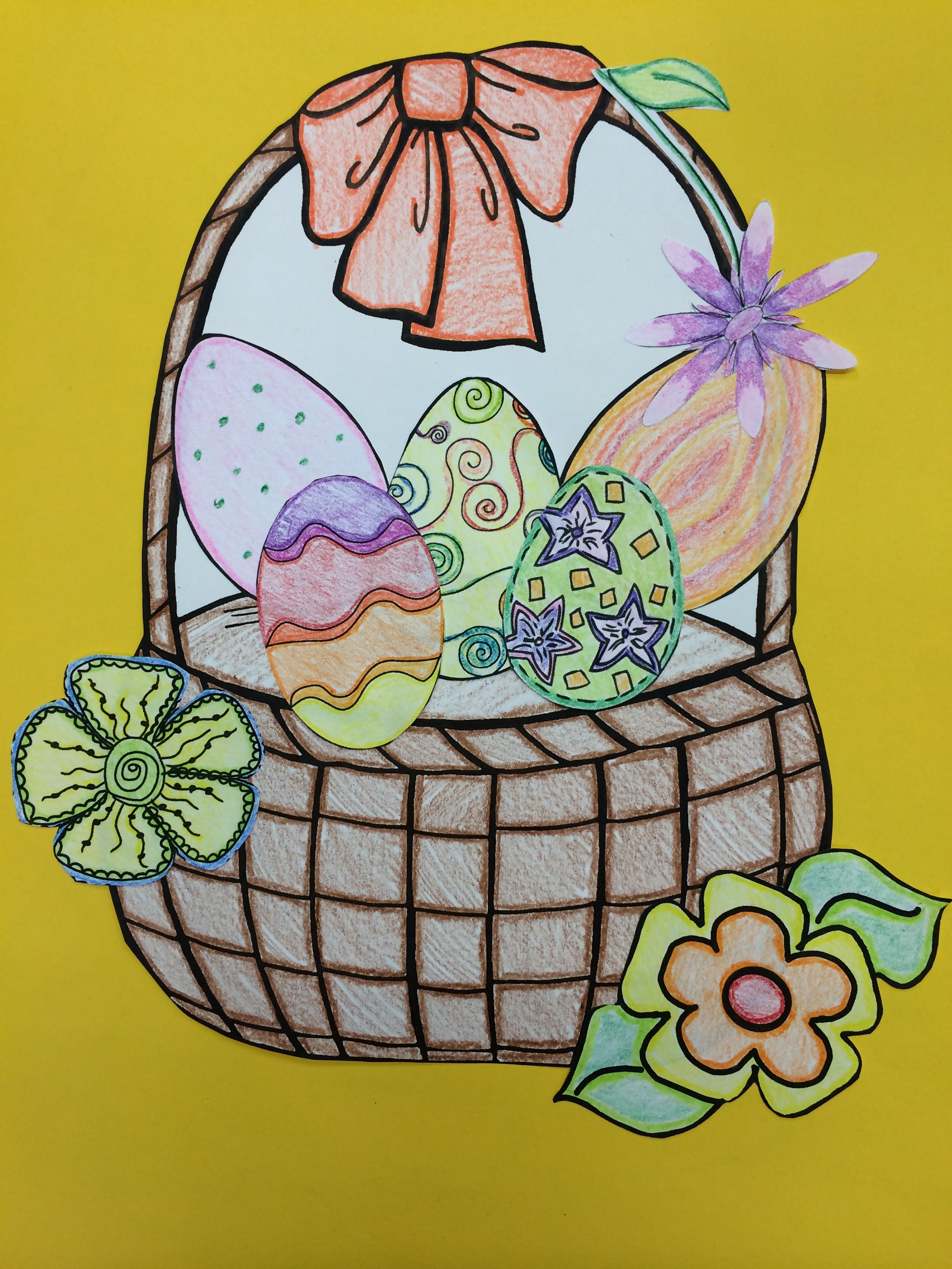 This Is One Of The Two Baskets And Eggs From The Adjective