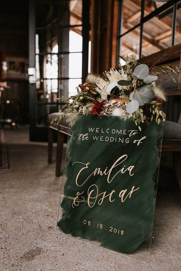 20 Acrylic Wedding Welcome Signs Perfect for Greeting Guests
