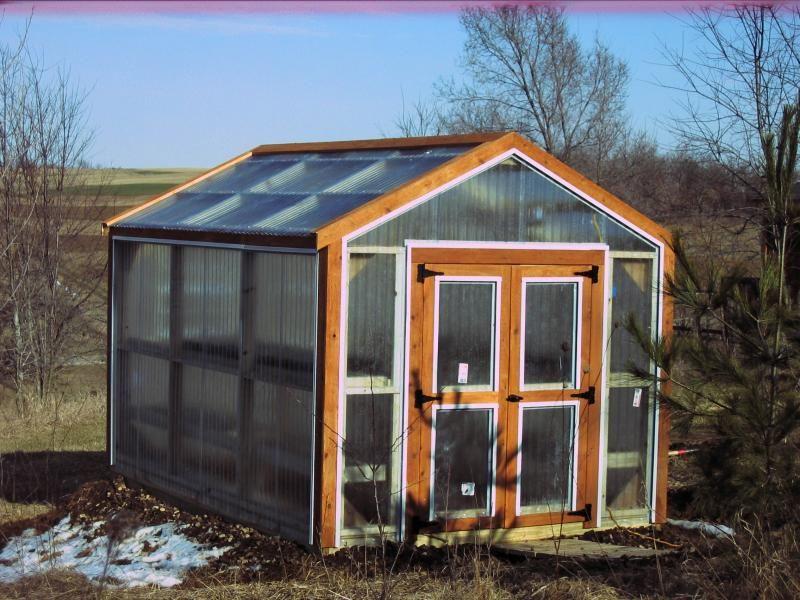 Greenhouses Corrugated plastic, Plastic siding