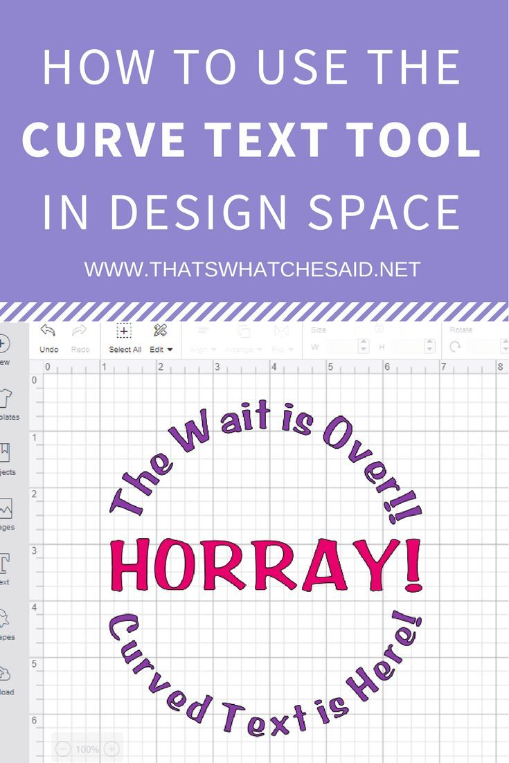 How to curve text in cricut design space cricut design
