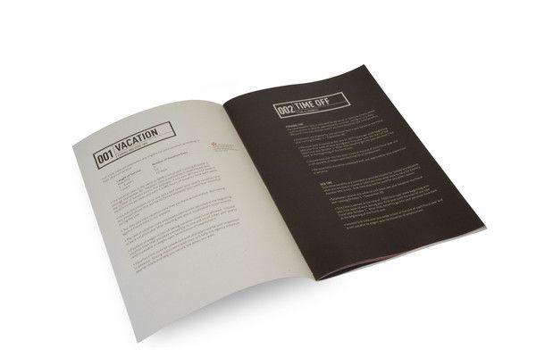 Employee Handbook By Scott Schermer Via Behance  Publication