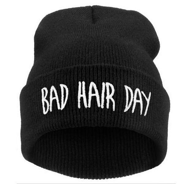 de17e721f6c Bad hair day print teen winter unisex beanie