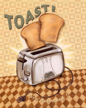 Cute in the Kitchen.....art print...Nifty Fifties, Toast by Charlene Audrey at allposters.com $7.99
