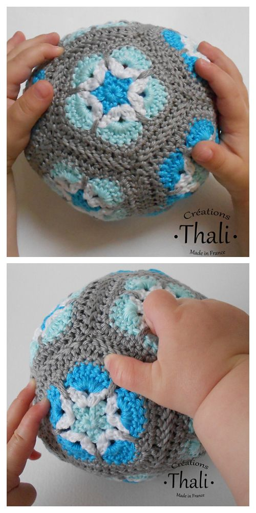 Photo of Crochet African Flower Ball Free Crochet Patterns