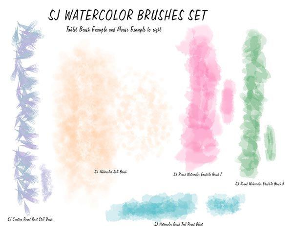 Sj Watercolor Brush Tool Presets By Digitalladysyd Free Download