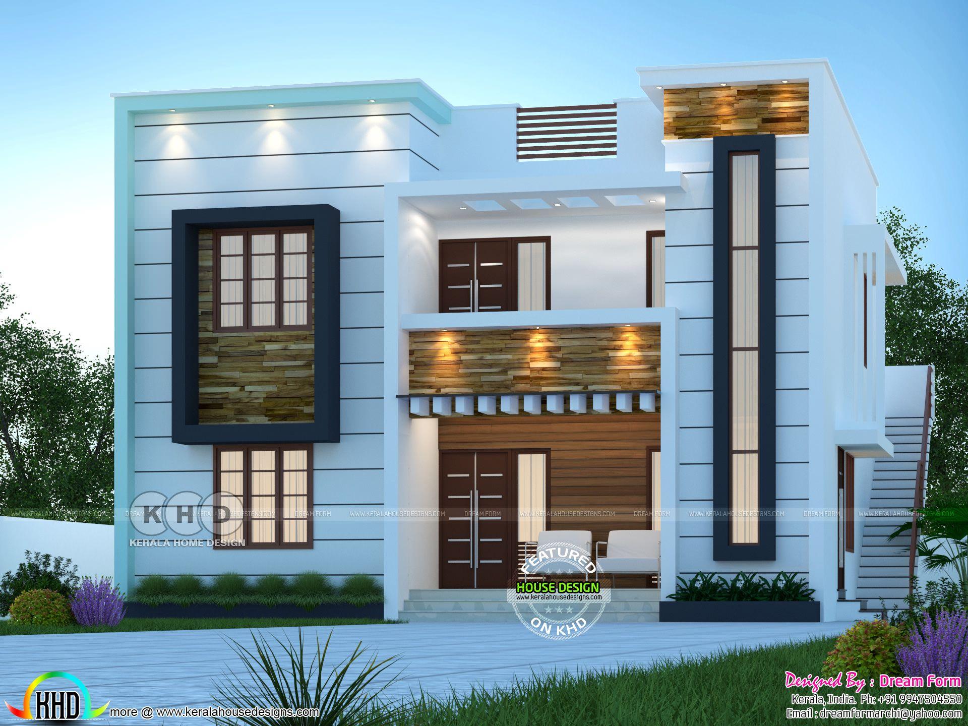 4 bedrooms 2250 sq.ft modern duplex home design in 2020