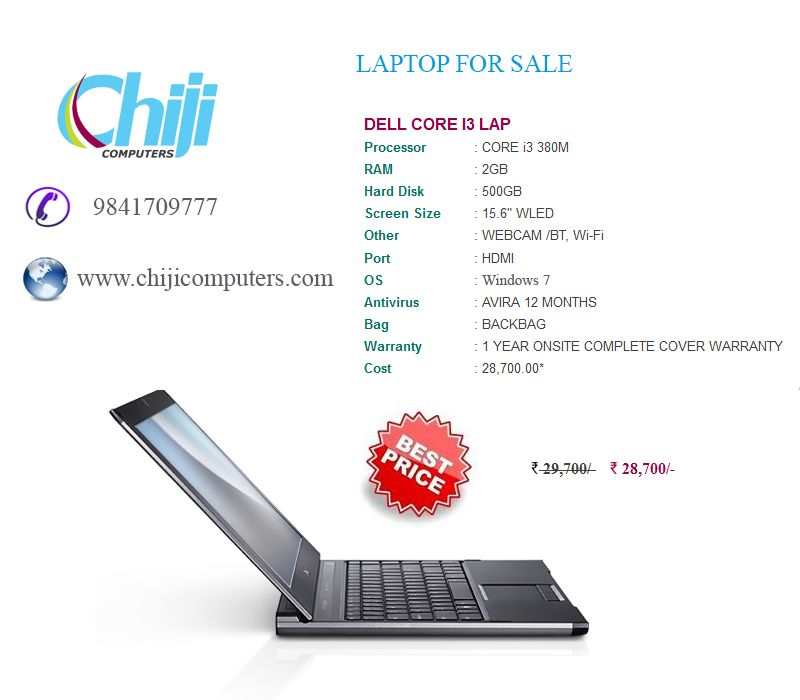 Lowest Price laptop Sales in Chennai