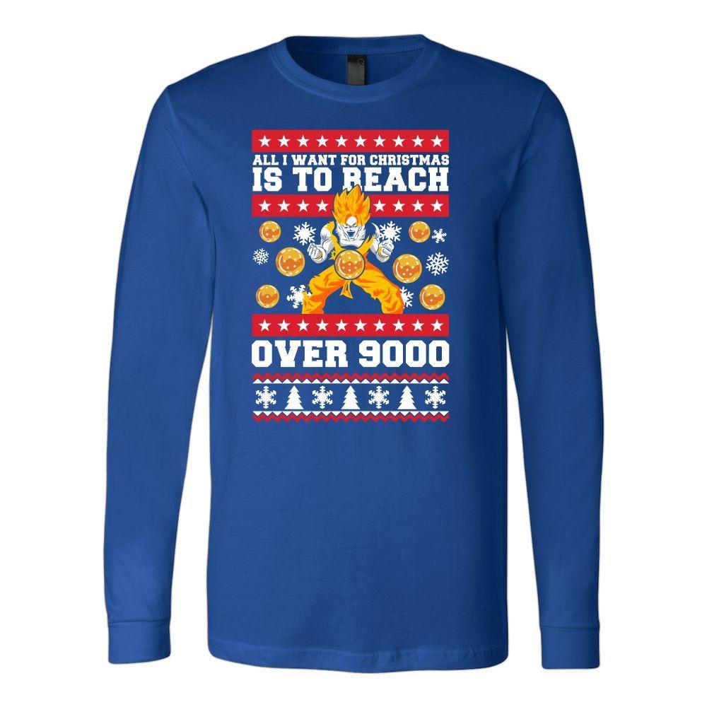 Super Saiyan - Goku Over 9000 - Unisex Long Sleeve T Shirt - TL01091LS