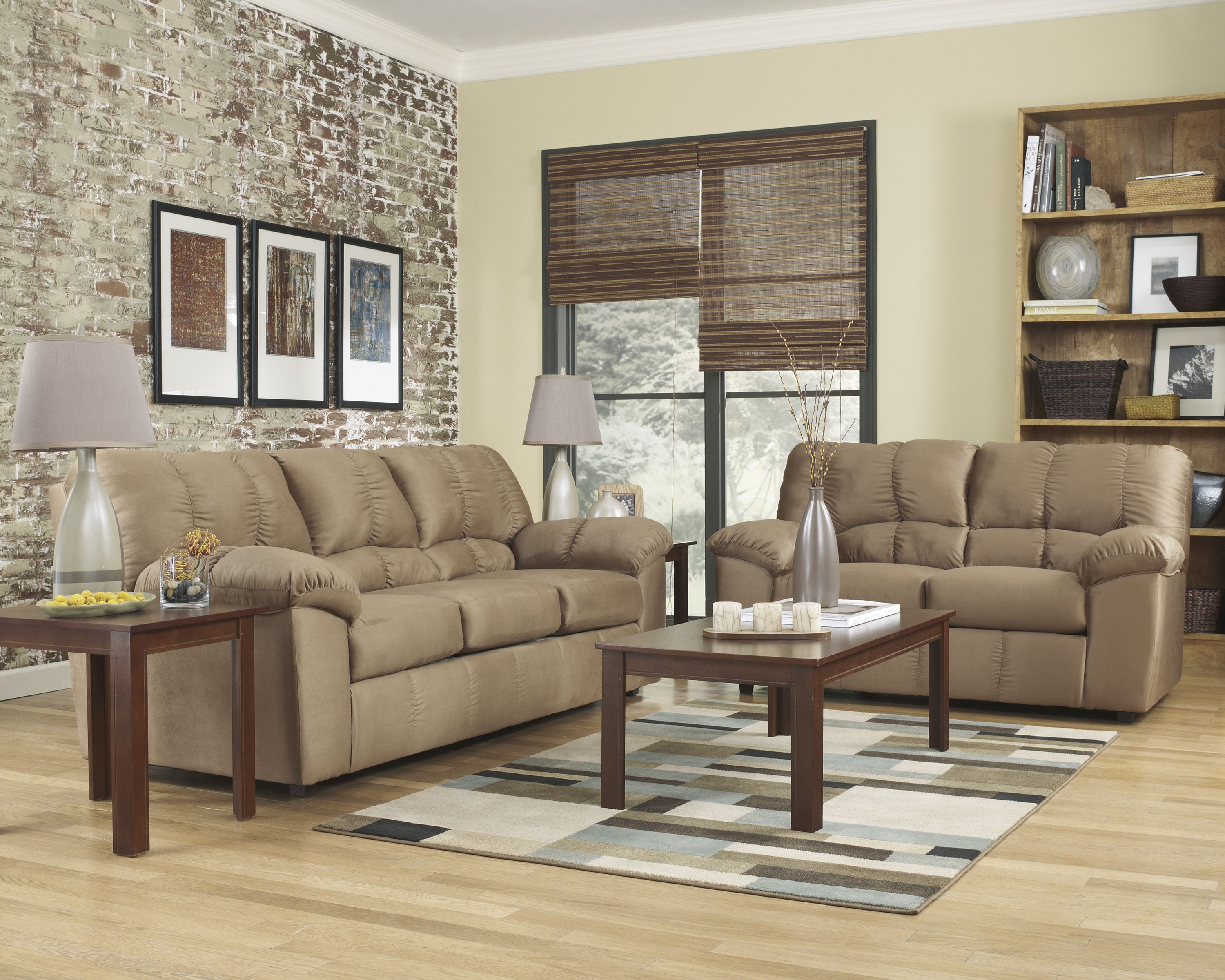 Ashley Furniture Microfiber Sofa and Love Seat for ONLY $595