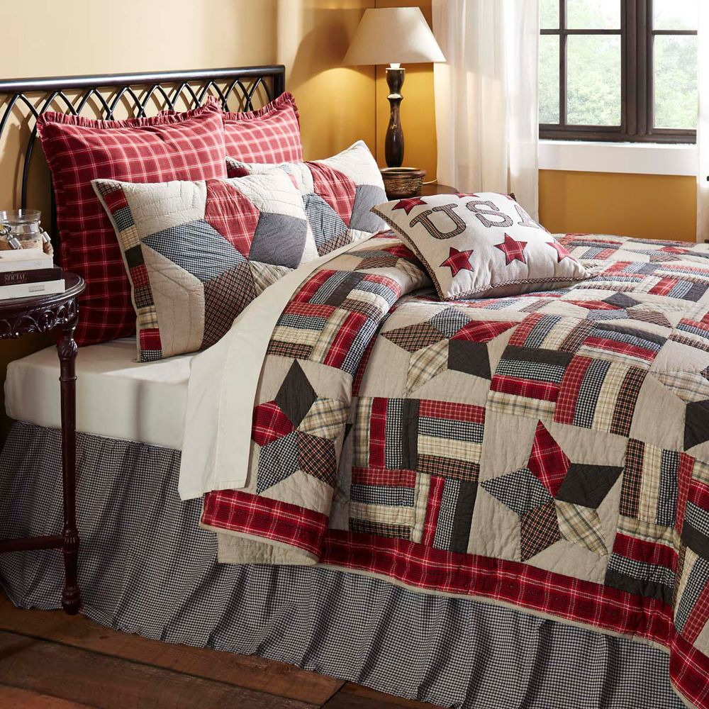 king size 3 pc quilt set glory americana style cotton quilt +