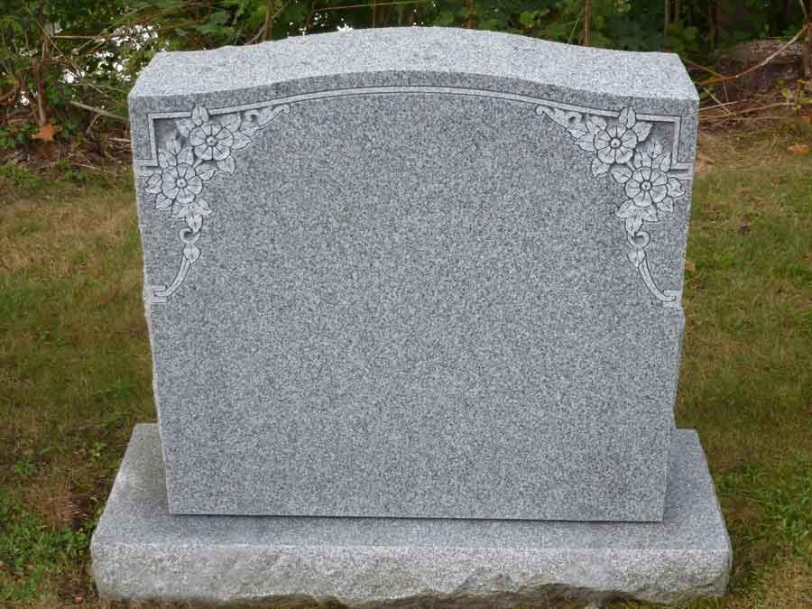 Flower And Ivy Granite Headstone Designs Purchase Your