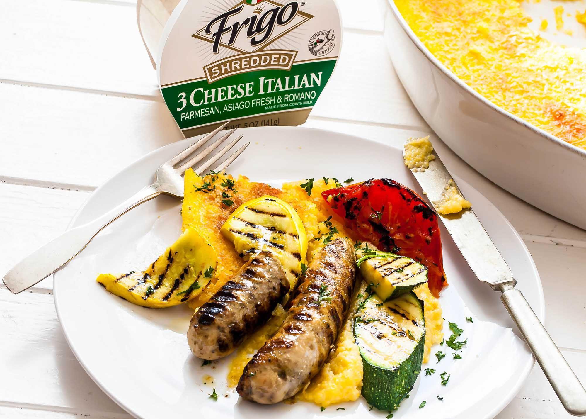 Polenta with Grilled Vegetables | Grilled veggies, Grilled