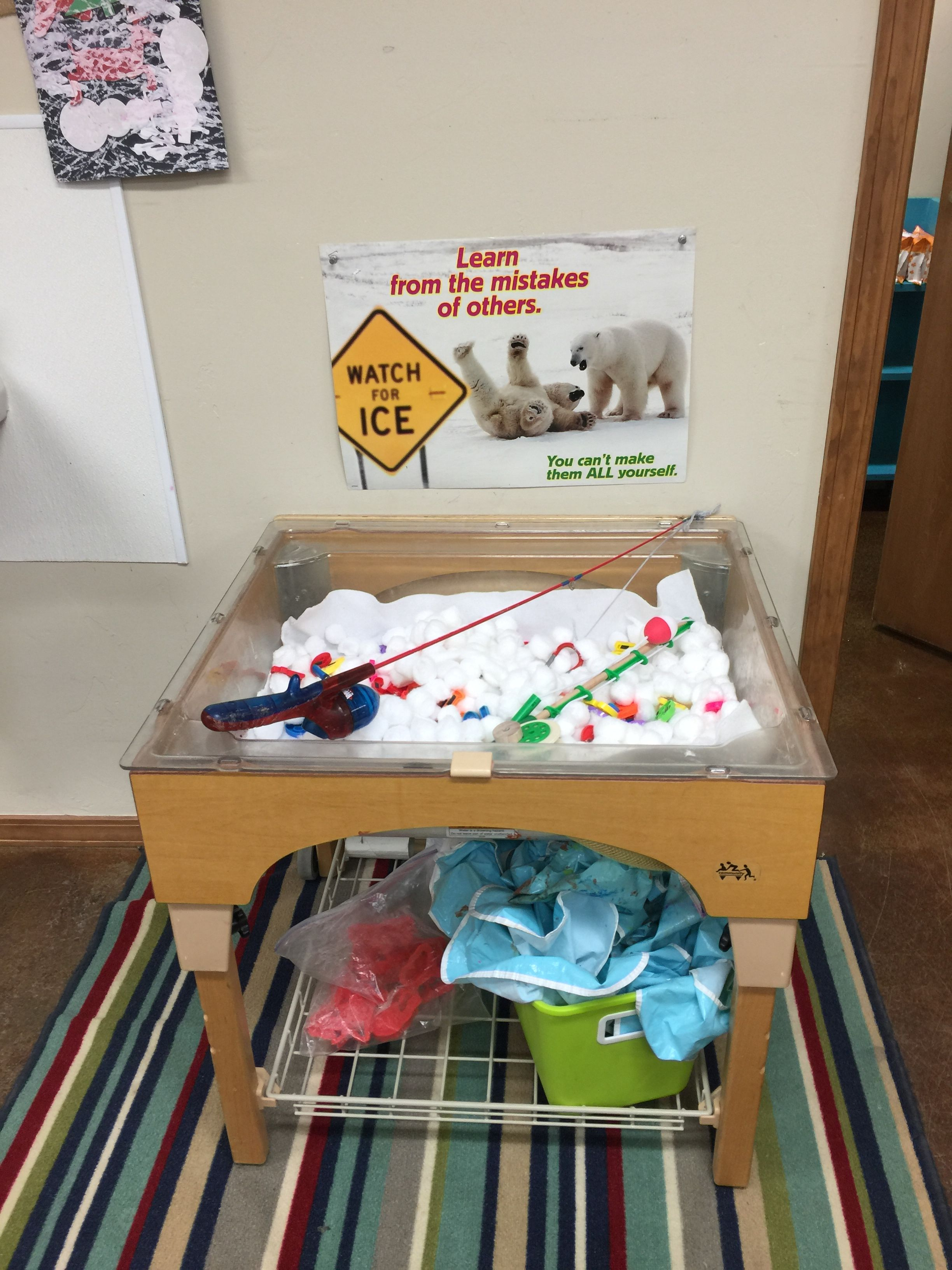 Ice Fishing Preschool Sensory Cotton Balls Magnetic