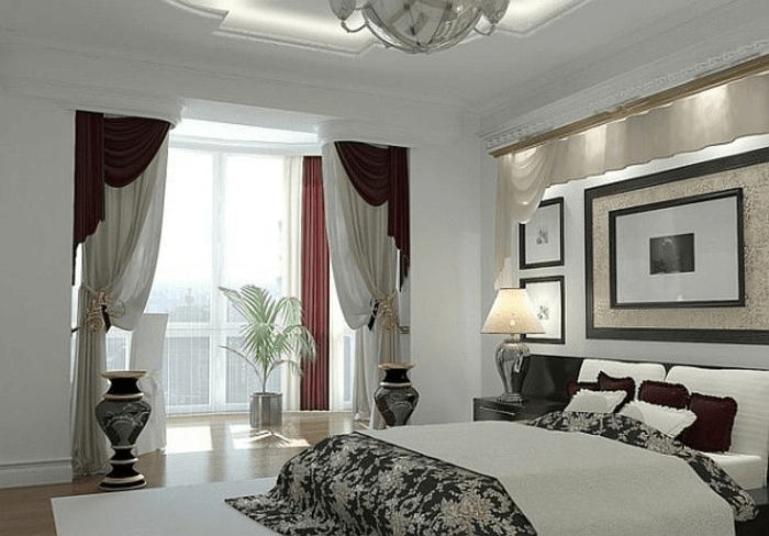 schlafzimmer fensterdeko moderne gardinen schlafzimmer. Black Bedroom Furniture Sets. Home Design Ideas