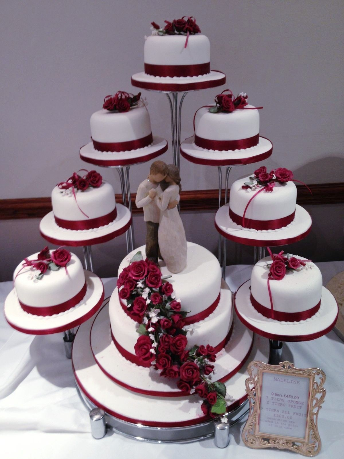 12++ Fountain cake stands wedding cakes inspirations