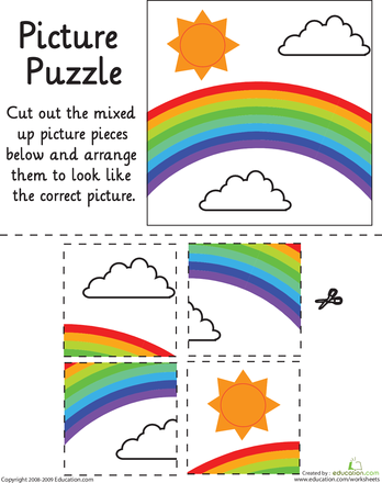 Nifty image for printable puzzles for preschoolers
