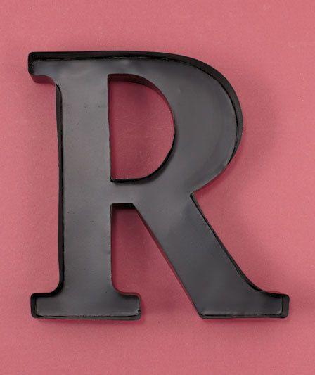 New Metal Monogram Letter Initial \