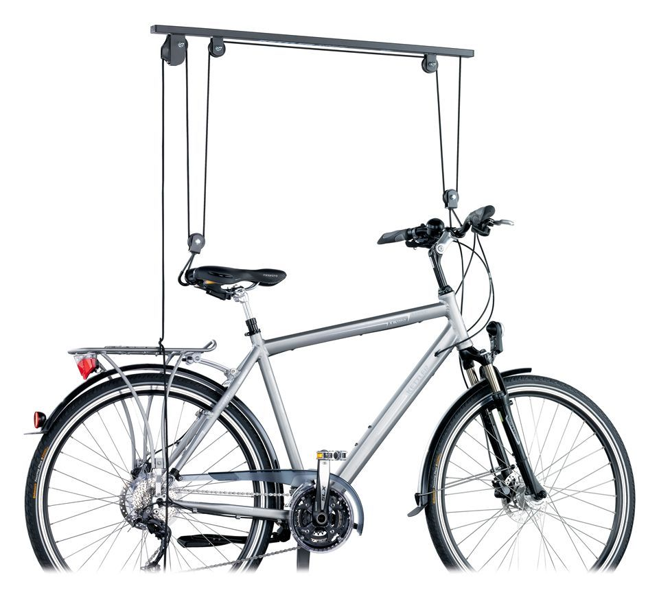 Pulley System For Bicycle Storage