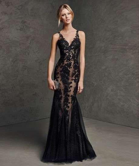 Vestido para boda en negro