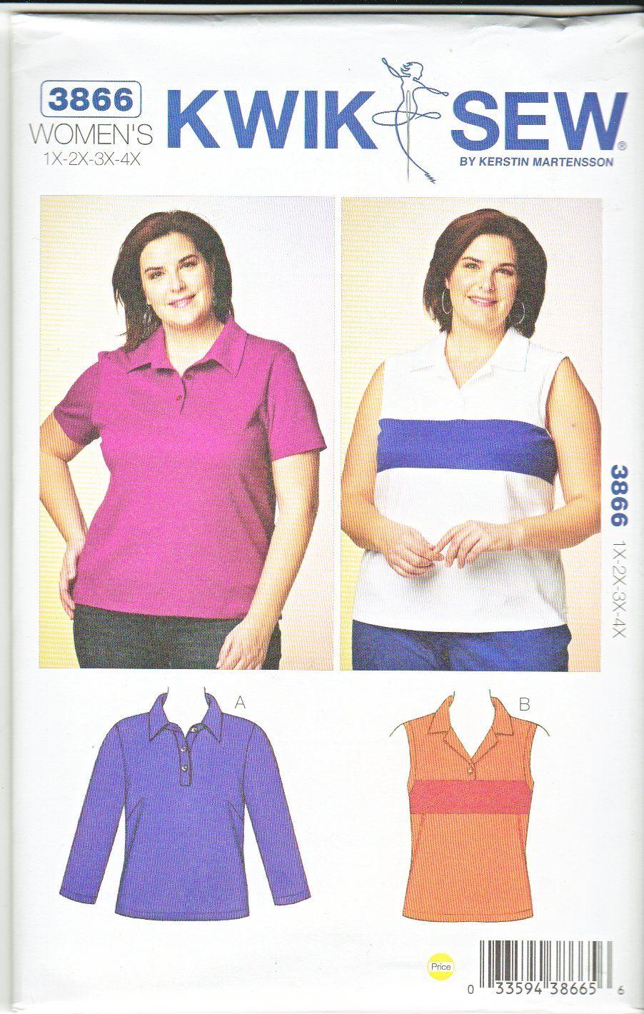 Kwik sew sewing pattern 3866 k3866 womens plus size 1x 4x 22w kwik sew sewing pattern 3866 womens plus size 1x 4x 22w 32w jeuxipadfo Choice Image