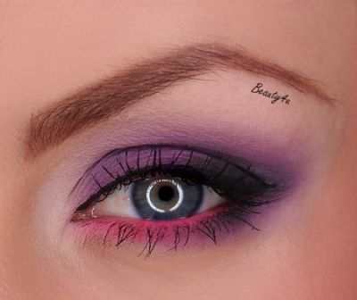 Violet with pink