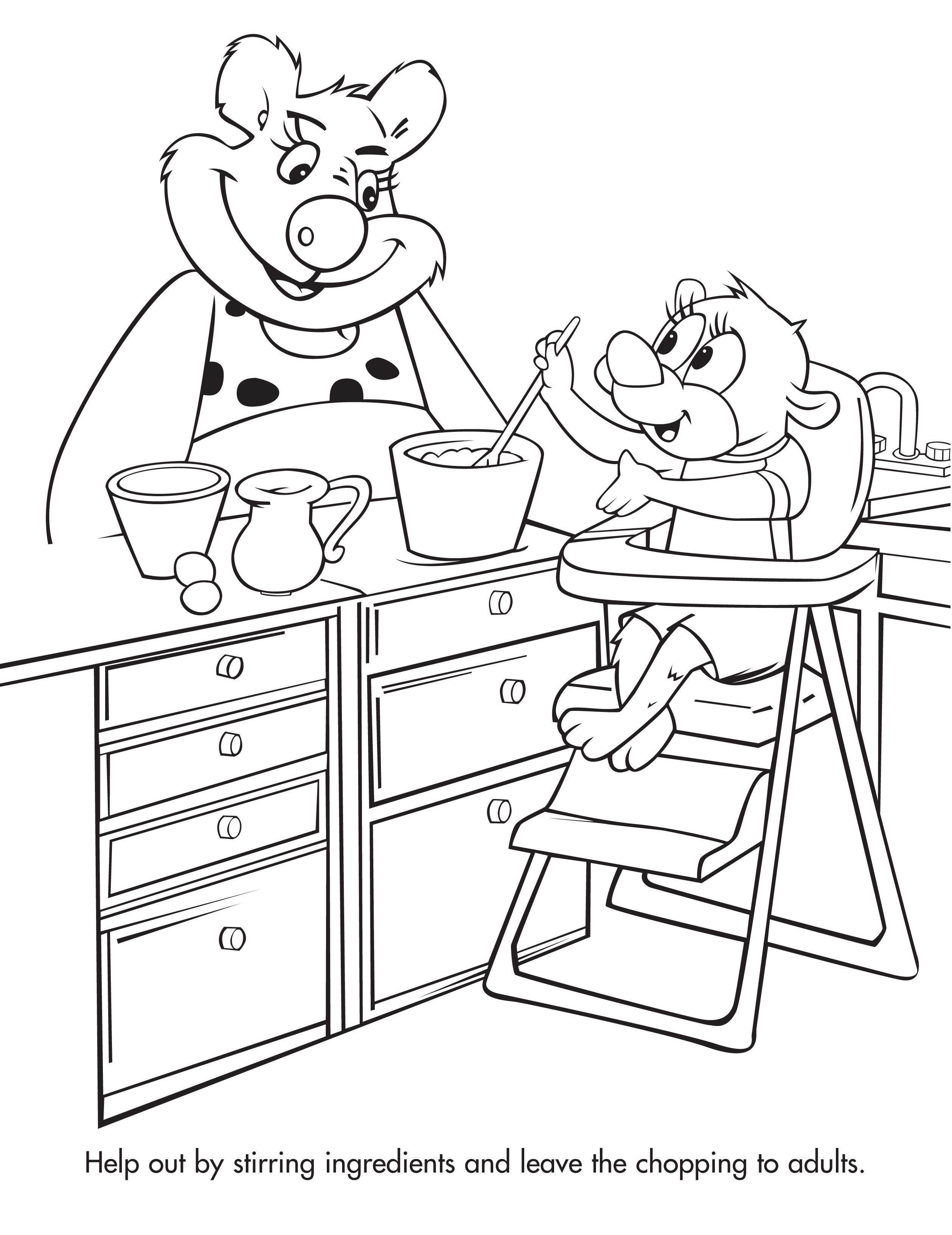 Remember to teach kitchen safety tips to small children when they ...