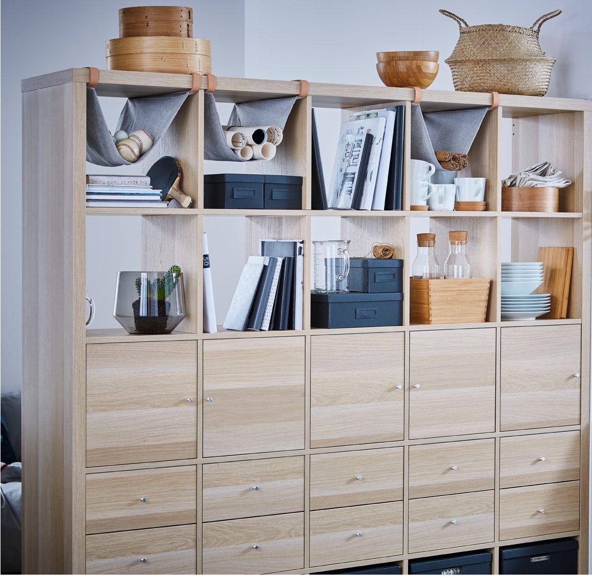 Unser Ikea Kallax Regal Mit 10 Einsatzen Eicheneffekt Weiss Lasiert Lasst Sich Als Raumteiler Mit Of Raumteiler Ideen Diy Ikea Kallax Regal Kleine Wohnung Tipps