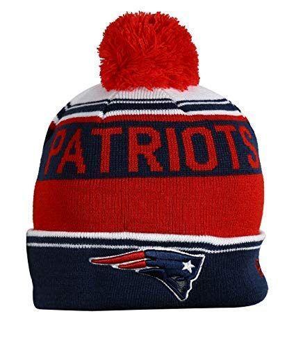 54ed43df Unisex Adults NE PATRIOTS Winter Knit Beanie PomPom Hat One Size ...