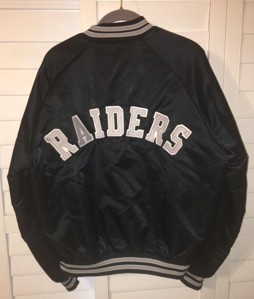 15f1d674 VTG RARE 80's Oakland Raiders Chalk Line Satin Jacket Los Angeles ...