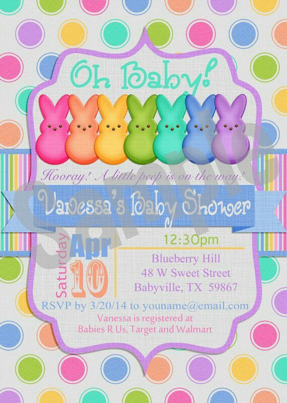 Easter Theme Baby Shower Invitation