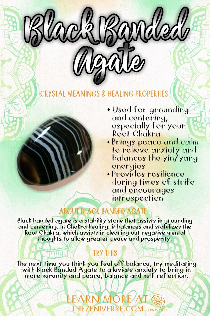 black agate crystal meaning