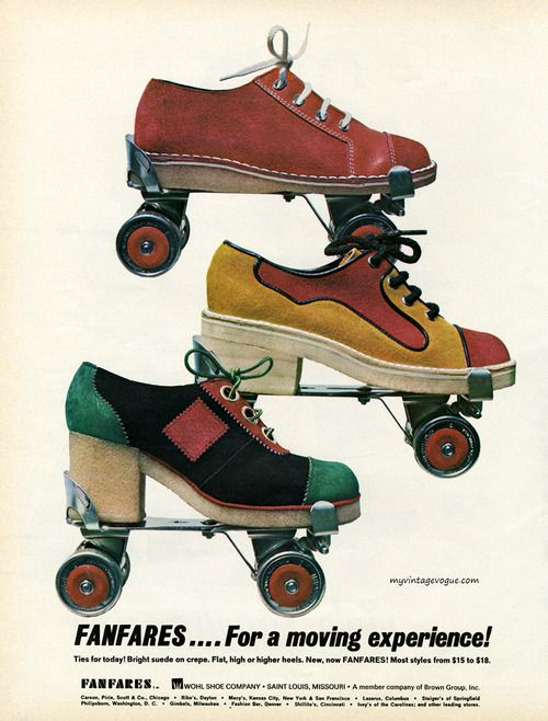It Is Not 50 60s Fanfares 1972 Roller Skates Vintage Roller Shoes Roller Disco