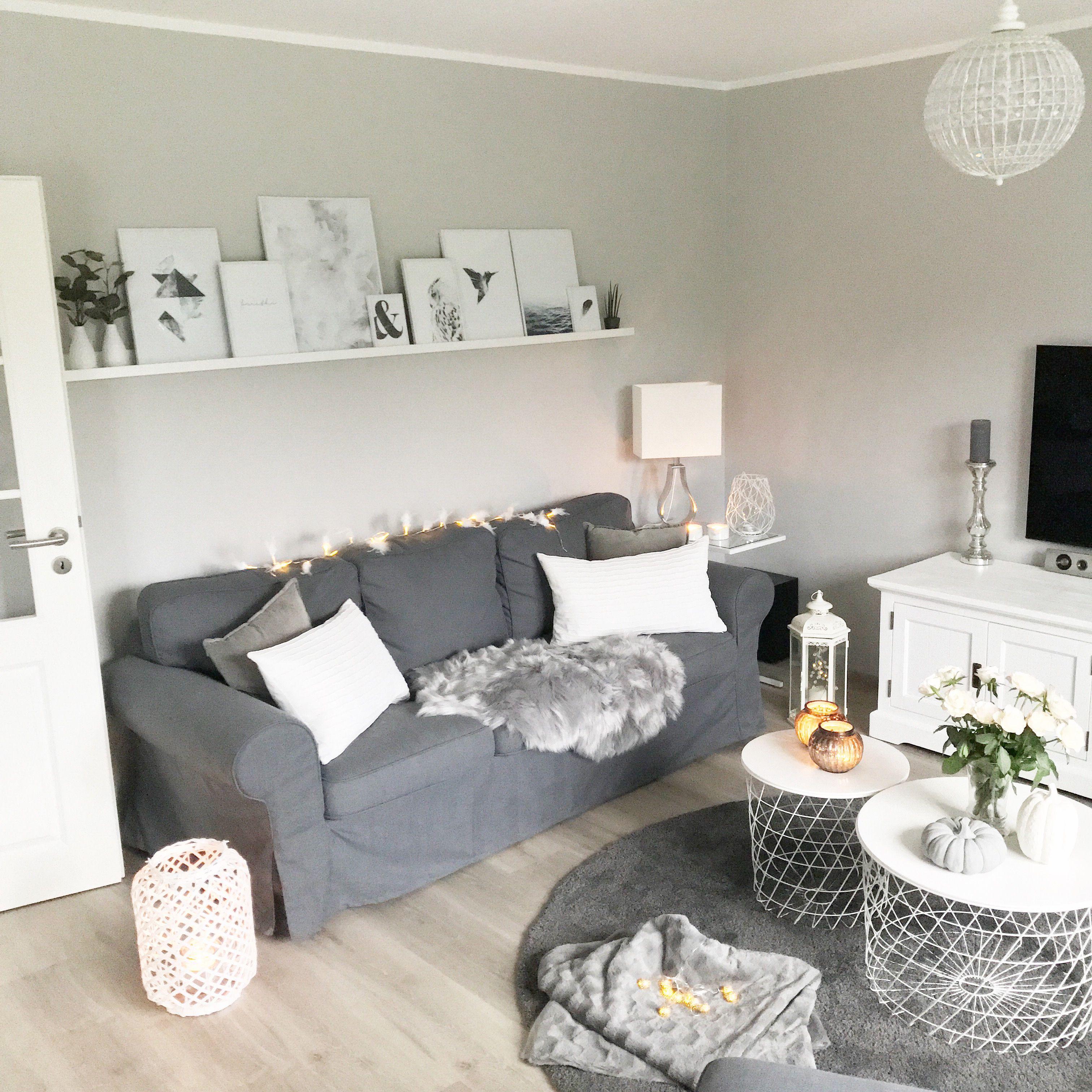 Instagram Wohn Emotion Landhaus Wohnzimmer Livingroom Modern Grau Weiss Home Country Style Curtains Living Room