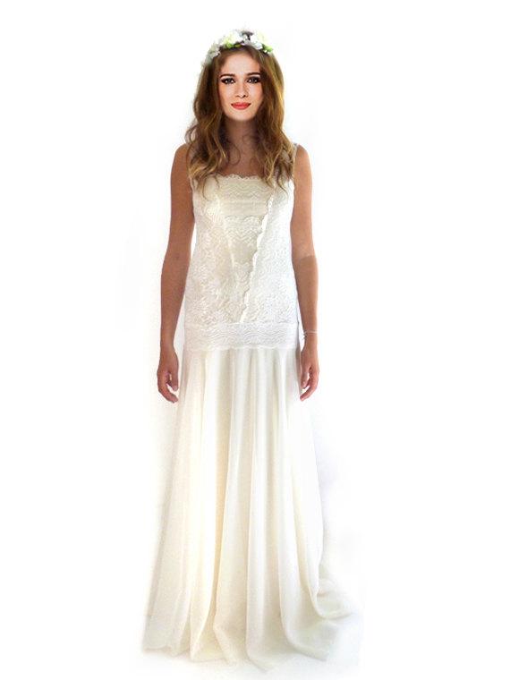 Flapper-Hochzeitskleid, Hochzeit Spitzenkleid, Retro große Gatsby ...