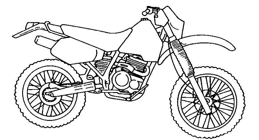 Dibujos De Motos Para Colorear E Imprimir | Motos